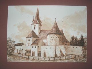 Iuliana Sava; Old Fortress Of Biertan R..., 2009, Original Drawing Other, 29 x 21 cm. Artwork description: 241  Drawing ink on paper, size 29x21cm, 2009. Post i pay. ...