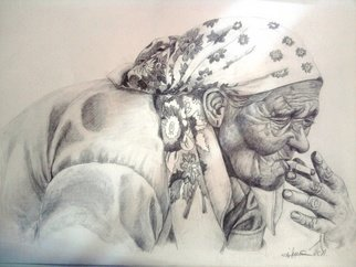 Iuliana Sava; Waiting In The Station, 2011, Original Drawing Pencil, 41 x 29 cm. Artwork description: 241   Sales...