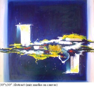 Svappna Malvaade; Untitled, 2007, Original Mixed Media, 30 x 30 inches. Artwork description: 241  Abstract with Mirror. ...