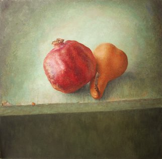 Sofia Wyshkind; Lime Light Pomegranate An..., 1999, Original Painting Oil, 18 x 18 inches. Artwork description: 241    Two actors on the stage  ...