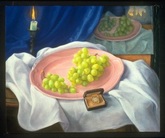 Sofia Wyshkind; One Life Time, 1999, Original Painting Oil, 24 x 20 inches. Artwork description: 241  Repetition of the same motive of still life done with distance of time 30 years. ...