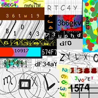 Istvan Szil; Captcha Story , 2009, Original Printmaking Giclee, 4 x 4 feet. Artwork description: 241    CAPTTCHA a. k. a Completely Automated Public Turing test to tell Computers and Humans Apart. Manipulated Captcha image  ...