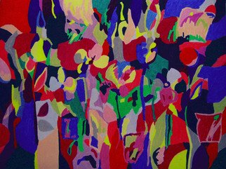 Tadeush Zhakhovskyy; River Of Color, 2009, Original Pastel, 61 x 46 cm. Artwork description: 241  flowers, leaves, bright, shiny  ...