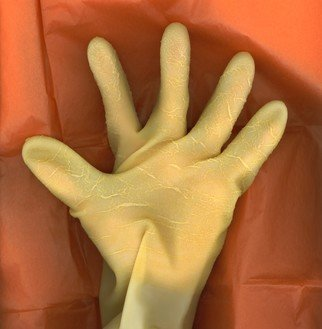 Tamarra Tamarra; Rubber Hand 3, 2019, Original Photography, 14 x 11 inches. Artwork description: 241 HAND, HUMAN, COLOR, PHOTOGRAPHY, RUBBER GLOVE,  COLOR ABSTRACT PHOTOGRAPH OF HAND IN RUBBER GLOVE ...