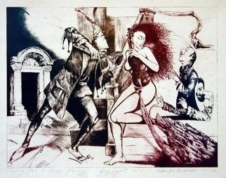 Roberto Andreev; Song For A Three Lady, 2002, Original Printmaking Etching, 38 x 30 cm.