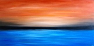 Tanya Hansen; Affinity, 2017, Original Painting Acrylic, 48 x 24 inches. Artwork description: 241 One more painting from series  Emotions . Affinity - with the most prominent bright accents in the sky, the sea and the horizon. They always together, they always so close to each other. They are similar in their infinity, power and freedom - these two huge space - the sky and ...