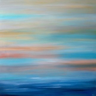 Tanya Hansen; Felicity, 2017, Original Painting Acrylic, 36 x 36 inches. Artwork description: 241 Never tiring sea theme. Flexible lines and color mix make your imagination deep and new every time you look on this picture. And now, this light and easy ocean sunset with more calm and gentle tones, more mixed, more blessedness, more happiness with full of satisfaction and ...