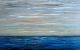 Tanya Hansen; Sunday Morning, 2017, Original Painting Acrylic, 48 x 30 inches. Artwork description: 241 I created this painting on the Sunday morning of May. When the morning ocean lazily wakes up under barely noticeable rays of the sun, absorbing them in its cold waters. Sunday morning is the most wonderful time for endless dreams and relaxing. A gentle and attractive minimalist ...