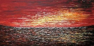 Tanya  Hansen; Affinity Sunset, 2020, Original Painting Acrylic, 48 x 24 inches. Artwork description: 241  Affinity Sunset  -  is a 100  hand- made painting, created with acrylic paints on high- quality canvas.  Painting is coated with high- gloss varnish to protect it from possible dust and sun damage.Abstract contemporary art, textured acrylic painting.This is one of those sunsets when the tired, ...