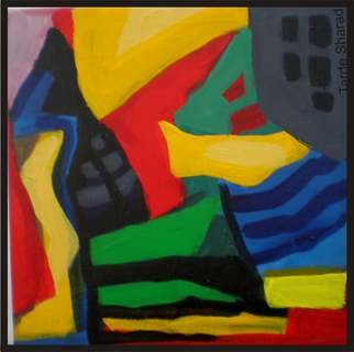 Sharad Tarde; colors in life, 2009, Original Painting Oil, 20 x 20 inches. Artwork description: 241  color in life- mood reflection ...