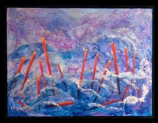 Tary Socha; Floating Poles, 2005, Original Painting Acrylic, 16 x 12 inches. Artwork description: 241 The fluid movement of oceans and boyant poles, creates an interesting contrast....