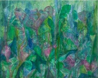 Tary Socha; Growiing Things, 2006, Original Painting Acrylic, 30 x 24 inches. Artwork description: 241 An impression of crowded growth of plant life reaching skyward. Mixed acrylic mediums on gallery wrapped canvas....