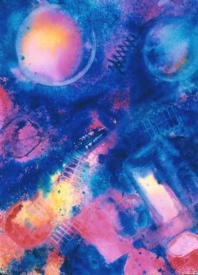Tary Socha; Macrocosm, 1995, Original Mixed Media, 18 x 24 inches. Artwork description: 241 Mixed water media on paper. There is a distinct interconnectedness of all things. Here, the microcosm and the galactic macrocosm are one and the same. We are all one with the undiversal....
