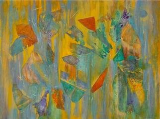 Tary Socha; Pacific Recollections, 2006, Original Painting Acrylic, 40 x 30 inches. Artwork description: 241 Fragmented Recall series. This series is premised on the fact that we all have memories or thoughts just out of reach on the tip of our tounges. Like a painted image on an old barn or the patina wear on fragmented copper, layers of textures and subtle ...