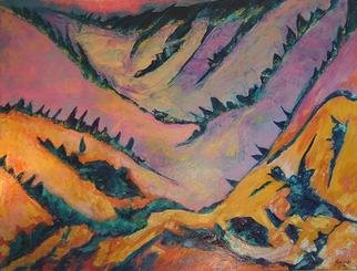 Tary Socha; Slopes, 1996, Original Painting Acrylic, 36 x 48 inches. Artwork description: 241 An abstraction of mountain ski slopes....