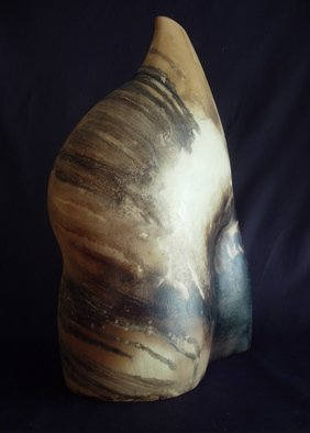 Tracy Buchanan; Figure 1, 2006, Original Sculpture Ceramic, 13 x 20 inches. Artwork description: 241  Smoke fired hand- built ceramic sculpture.  Made from porcelain, burnished at leather hard, fired twice and sealed. ...