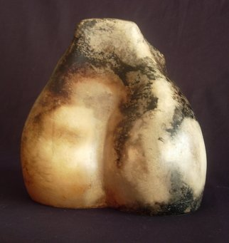Tracy Buchanan; Figure 3, 2006, Original Sculpture Ceramic, 13 x 12 inches. Artwork description: 241  Smoke fired ceramic sculpture. Make from porcelain, burnished at leather hard, fired twice and sealed. ...