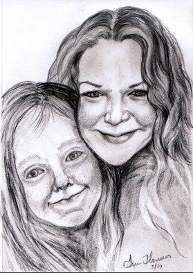 Terri Flowers, Candi and Kayla, 2014, Original Drawing Pencil,    inches