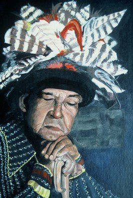 Terri Flowers, Onandaga Chief People of ..., 1985, Original Painting Acrylic,    inches