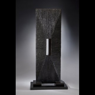 Ted Schaal; Passage, 2012, Original Sculpture Mixed, 11 x 28 inches. Artwork description: 241  A mirror polished stainless steel passage pierces a bronze monolithic form creating a very cool effect. ...