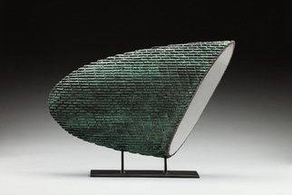 Ted Schaal; Shard, 2012, Original Sculpture Mixed, 24 x 18 inches. Artwork description: 241 Mirror polished stainless steel surfaces contrast with primative textures on bronze to create this sculptures dynamic composition. I have one left in my possession. ...