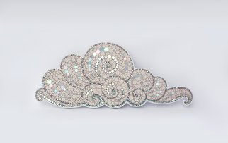 Nathalie Vin; Billowing Clouds, 2012, Original Mosaic, 40 x 17 cm. Artwork description: 241
