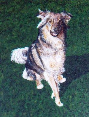 Teresa Turner; Irish, 1999, Original Painting Acrylic, 8 x 10 inches. Artwork description: 241 This is an example of a custom pet portrait. For information about commissioning a portrait of your pet, contact the artist....