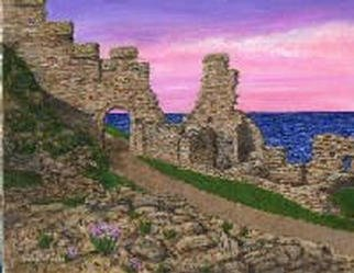 Teresa Turner; Ruins At Tintagel, 2001, Original Painting Acrylic, 10 x 8 inches. Artwork description: 241 This painting depicts the ruins of Tintagel Castle in the UK, in acrylics on canvas....