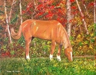 Teresa Turner; Seasons Of Change, 2005, Original Painting Oil, 10 x 8 inches. Artwork description: 241 This painting features Cy, one of the horses rescued by the South Carolina Awareness and Rescue for Equines charity. ...