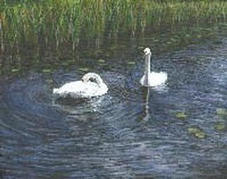 Teresa Turner; Serenity, 2002, Original Painting Acrylic, 10 x 8 inches. Artwork description: 241 This painting depicts a pair of trumpeter swans in a tranquil wetland of Ontario. Trumpeter swans were once native to the area and, thanks to conservation efforts, may now be seen again. LIMITED EDITION REPRODUCTION GICLEES NOW ALSO AVAILABLE!...