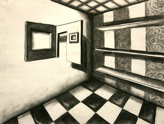 Teri Mcgee; Room, 2010, Original Drawing Charcoal, 18 x 20 inches.
