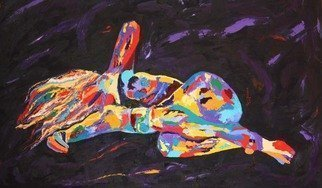 Terri Higgins; I Stopped Reaching Out Be..., 2012, Original Painting Oil, 60 x 36 inches. Artwork description: 241  Figurative abstract, reclining nude, impasto, oil on canvas   ...