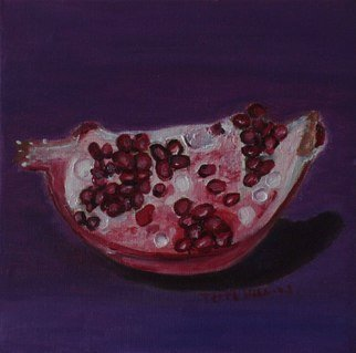 Terri Higgins; Pomegranate My Loneliness..., 2006, Original Painting Oil, 6 x 6 inches. Artwork description: 241 Oil on Linen...