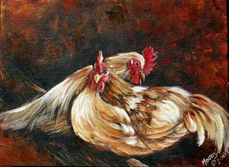 Tammy Fleetwood Moody; Roostin Time, 2007, Original Printmaking Giclee, 20 x 16 inches. Artwork description: 241  This is a giclee poster print of a realism acrylic painting featuring two chickens. ...