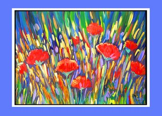 Tammy Fleetwood Moody; Where Poppies Grow, 2008, Original Reproduction, 20 x 16 inches. Artwork description: 241  This is a giclee poster print of an abstract painting by Tammy Fleetwood Moody. Where Poppies Grow is a fun, energetic abstract that is sure to bring life to any wall in your home. ...
