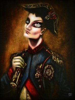 Tiago Azevedo; Napoleon At War Painting ..., 2018, Original Painting Oil, 12 x 16 inches. Artwork description: 241 Careful examination of the details embedded in this portrait reveals Napoleon as a politically powerful icon.  He is placed in the center of a vertical canvas dressed in his uniform as a colonel of the Foot Grenadiers of the Imperial Guard.  His pose, the slightly pushes back ...