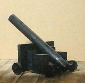 Themis Koutras; Cannod, 2019, Original Woodworking, 322 x 230 mm. Artwork description: 241 This is a cannon and is for a model or ornament made out of wood to me it is to remember those soldiers who died fighting for us in the time of war ...