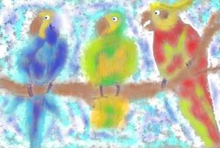 Themis Koutras; Parrots, 2019, Original Computer Art, 12 x 8 inches. Artwork description: 241 this is in prints sold by e mail...
