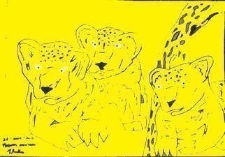 Themis Koutras; 2 Baby Lions And A Qwarler 2, 2019, Original Computer Art, 12 x 8 inches. Artwork description: 241 this art piece is done by computer art and sold as prints over the netwelcome to my art studioThese are art done in computer art sold in prints over the net by e mail at a cheep price all for you. ...