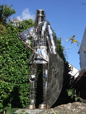 Thierry Lauwers; The Hanbury Knight, 2007, Original Sculpture Steel, 120 x 205 cm.