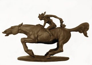 Chaizhiwei Chaizhiwei; Girl And Horse, 2007, Original Sculpture Bronze, 35 x 25 cm.