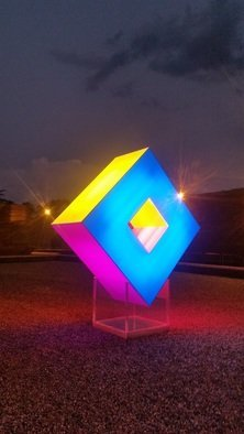 Tim Guider; Enlightenment, 2016, Original Installation Outdoor, 2 x 3 m. Artwork description: 241 This work developed onward from the Enlightenment working model. It is created from plastic with internal illumination. It is a world first. ...