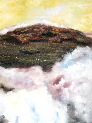 Pamela Benjamin; High Ground, 2010, Original Painting Oil, 18 x 24 inches. Artwork description: 241  This original painting is one in a series of sky paintings I'm doing, inspired from a dream I had. ...