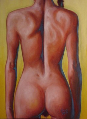 Tim Ezell; Nude Beach, 1999, Original Painting Oil, 32 x 46 inches. Artwork description: 241 I loved the play of the muscles on this woman' s back. ...
