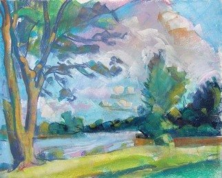 Timothy King; Fox River St Charles, 2007, Original Pastel, 14 x 11 inches.