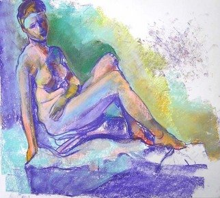 Timothy King; Kelsy Arm Across Lap, 2007, Original Pastel, 16 x 12 inches.