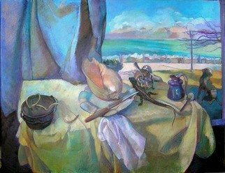 Timothy King; Tabletop View Of Lake Michigan, 2008, Original Pastel Oil, 40 x 30 inches.