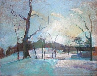Timothy King; Wing Park Band Shell In Winter, 2008, Original Pastel, 25 x 22 inches.