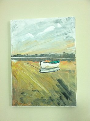 Timothy Sword; Isolation , 2014, Original Painting Acrylic, 9 x 12 inches. Artwork description: 241  forgotten boat  ...