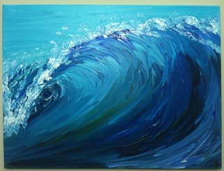 Timothy Sword; Offshore Winds, 2014, Original Painting Acrylic, 24 x 18 inches. Artwork description: 241    A colorful painting of a wave   ...